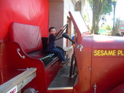 Sean driving the Engine at Sesame