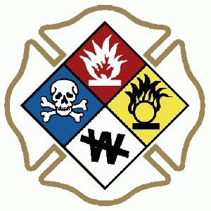 HAZMAT Maltese Cross Logo