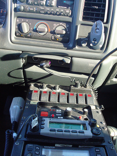 Friday- Console of the Fire Utility Truck