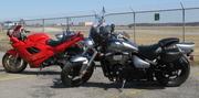 My Son's & my bike