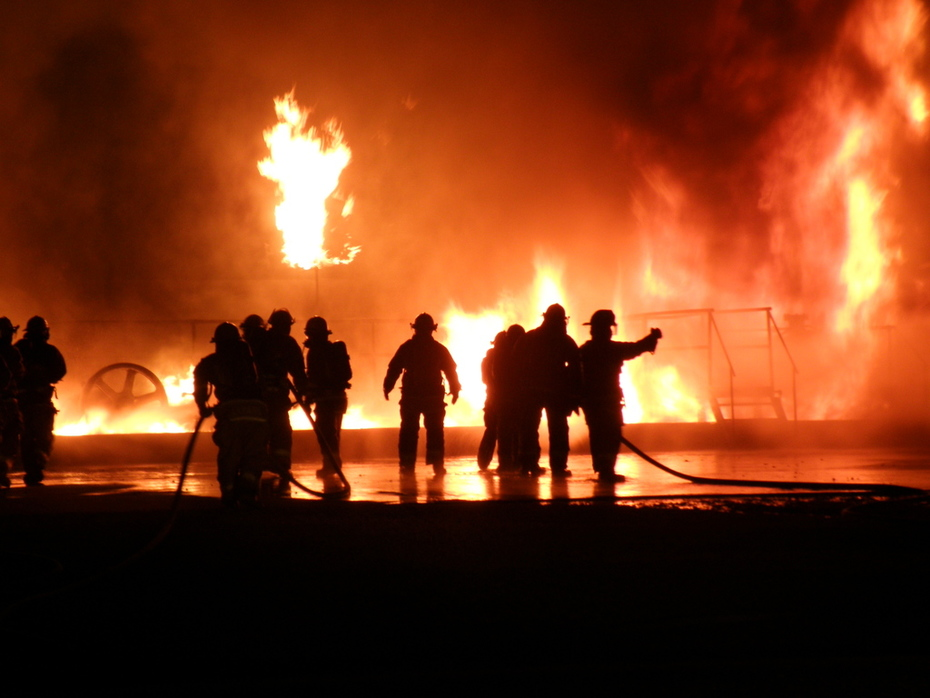 LCFD night flammable liquid and gas burns @ CERTC
