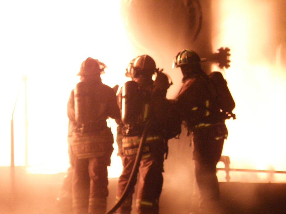 LCFD night flammable liquid and gas burns @ CERTC
