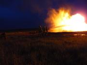 Oil storage tank fire
