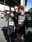 Kanagawa Half Marathon Pre-race: Yuka, Joachim, Christiane