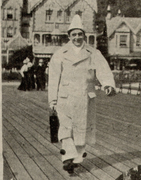 Clifford Essex as a pierrot