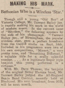 Oct 26 1929, The Bath Chronicle and Herald. Tarrant Bailey Jnr Making his Mark