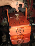 """each compartment is """"labeled"""" for certain spell implements"""