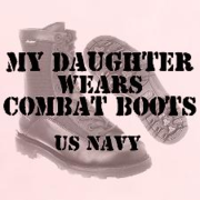 daughter wears combat boots