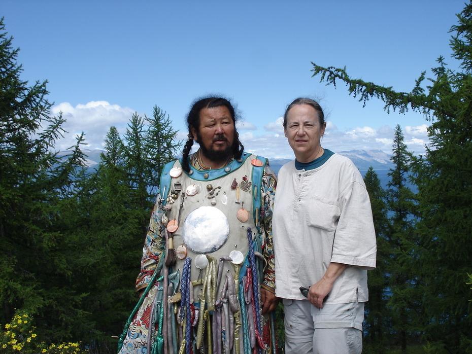 With Shaman Zorigtbaatar Banzaar at Lake Huvsgal, Mongolia