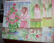 My painting:  Flowers for the Dining Table