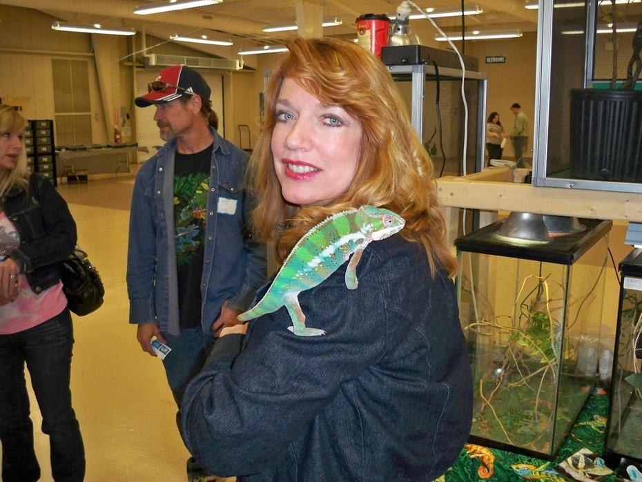 Juanita and Chameleon