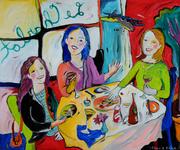 97. Midge, Ann, and Chris at Le Charlot