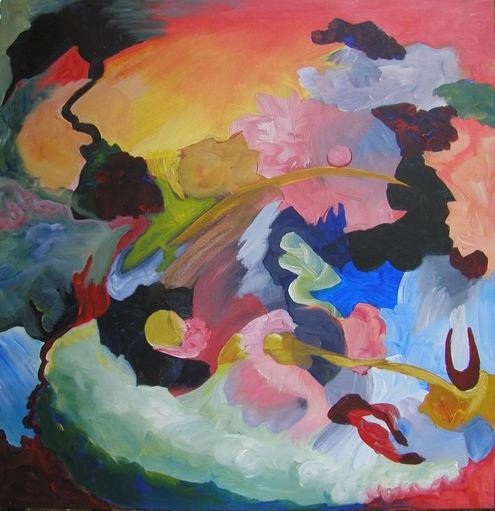 k Tone Poem Personal Physics 2  acrylic on canvas 25.5 x 25