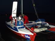 Down sails at last