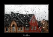 Angry Eyes behind Raindrops
