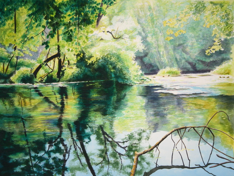 """Early Morning Neversink River"""