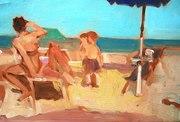 Beach With Children