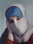 Syrian refugee beige scarf