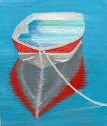 row boat red white blue