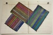 Ledger series 7 -Gouache & Prisma on Ledger paper