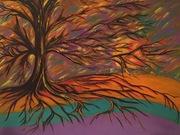 Tree of Fire Acrylic