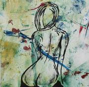 Sitting Nude (16x16) 2015