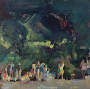 'Green Beach Crowd'