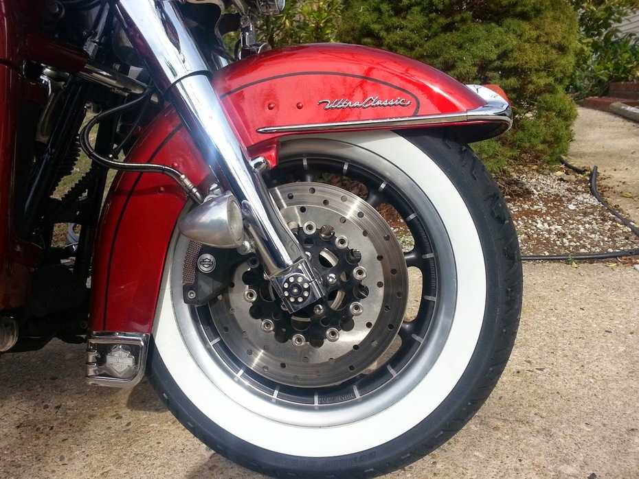"New ""Old School Wide White Wall Tires"" for the riding season"