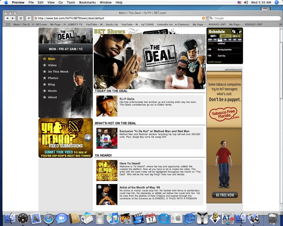 G DINERO ARTIST OF MONTH MAY 2009 BET