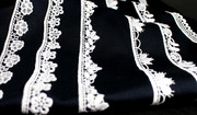 Modespitze Germany -  Embroidered lace ribbons made of certified organic cotton