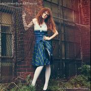 Blue Plaid Swing Dress