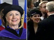 Hillary dressed up like Monica Lewinsky and gagged. You can't make this up!