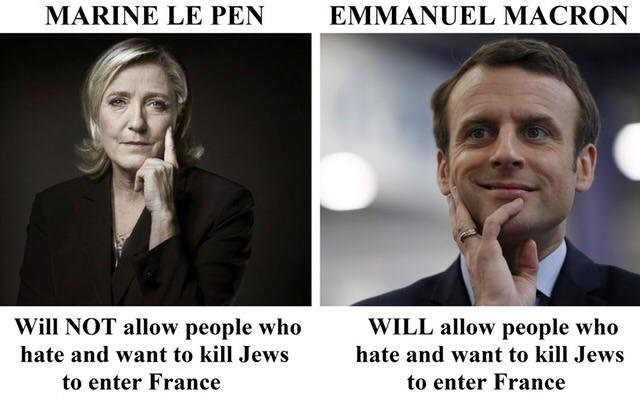 Guess which French presidential candidate the media is portraying as an anti-Semitic misogynist