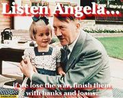 Merkel with Dad