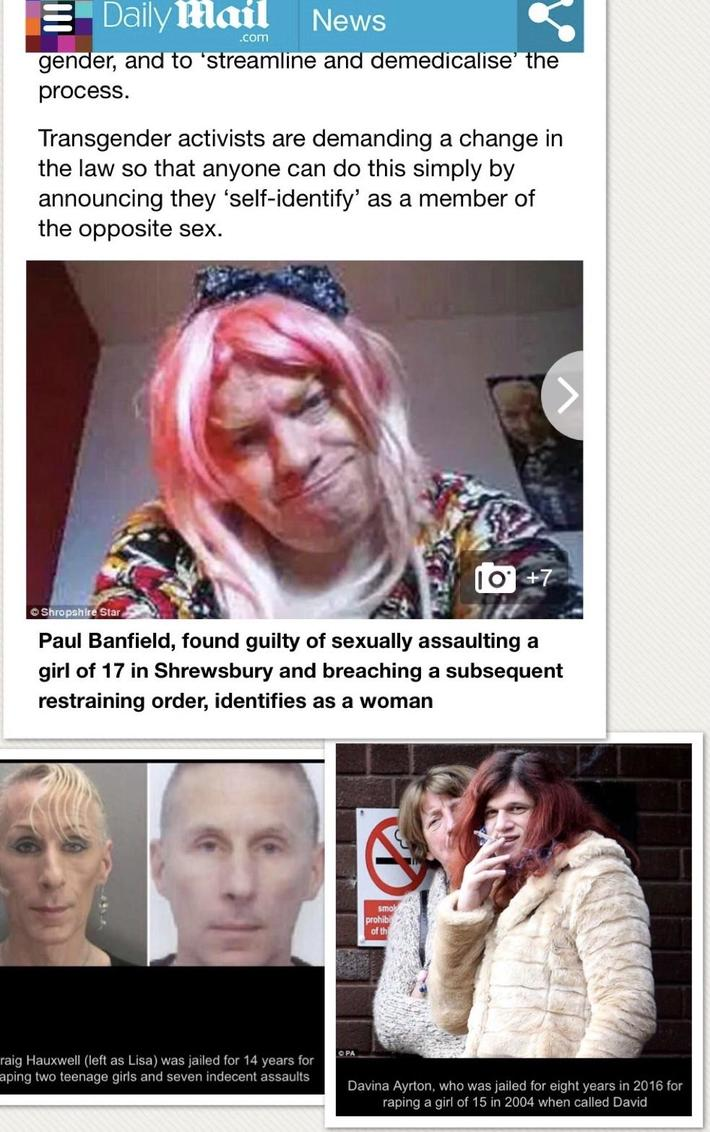 All 3 of these dudes raped and sexually assaulted teenage girls and want to do their time in female prisons because they now identify as women