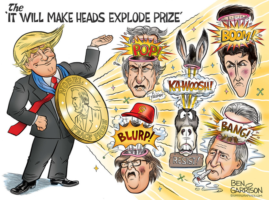 "Weekend Fun Ben Garrison Cartoon The ""It Will Make Heads Explode"" Prize"