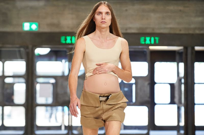 Fake-Baby-Bump-London-Mens-Fashion-Week