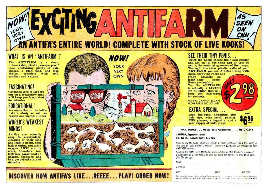Exciting ANTIFARM! Included: X-tra small Panties, CNN Glasses and a baguette. Order Now!