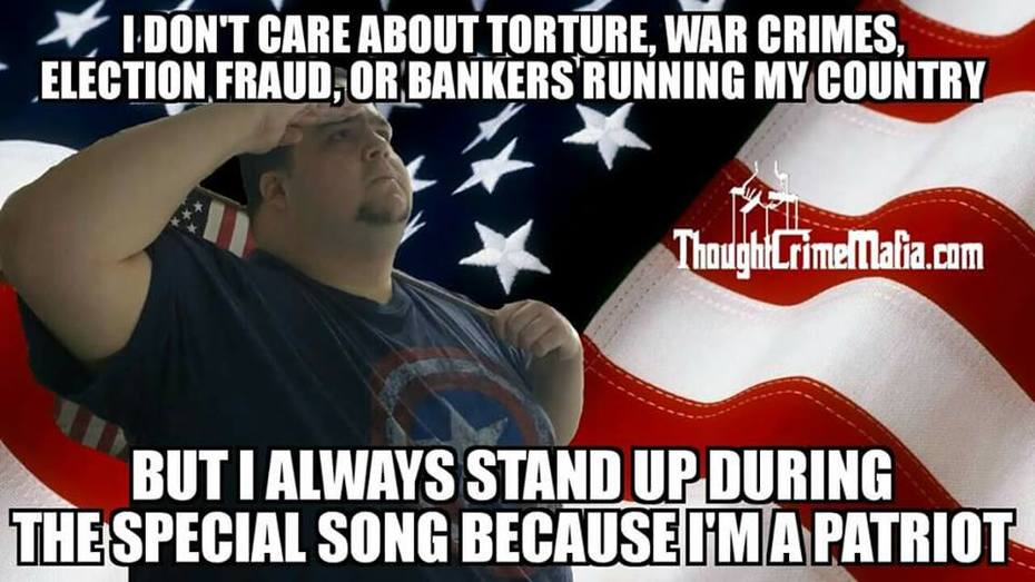 don't care 'cause I'm a patriot