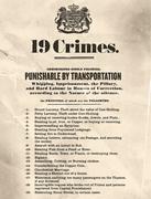 19 crimes punishable by transportation