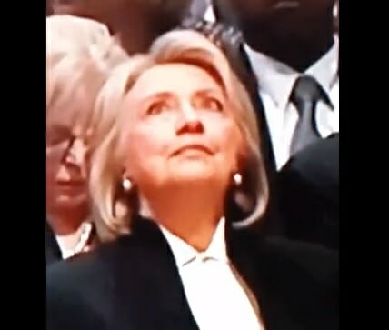 hillary-eyeroll-Yeah-She's-Healthy-GHWB-Funeral