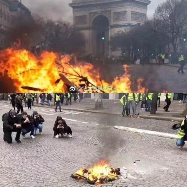 This pic - from French protest