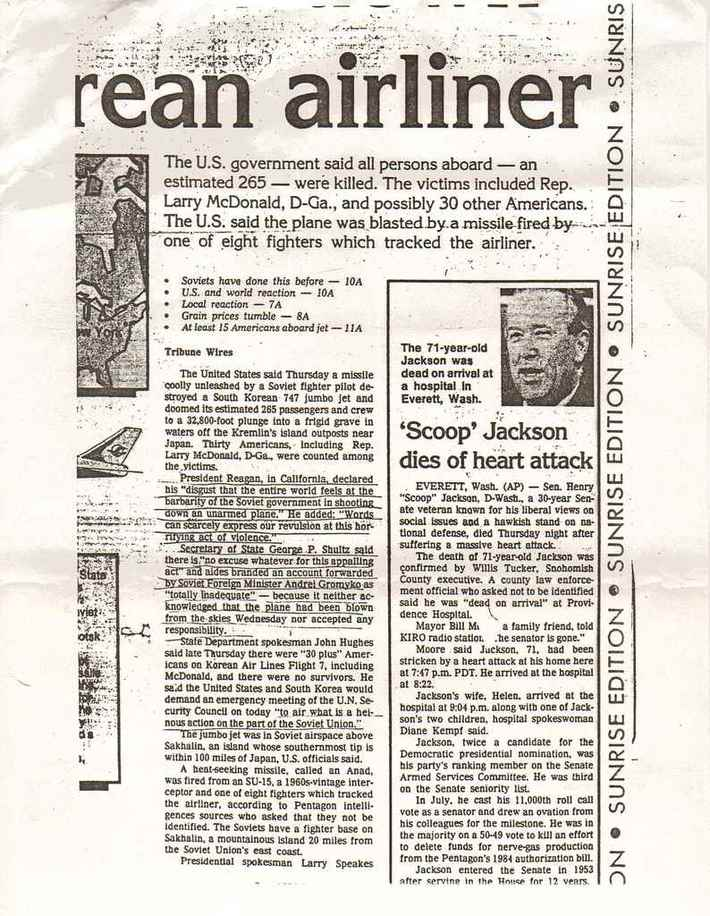 The Korean Civilian Airliner KAL007 Incident That Almost Started A Nuclear Exchange between Russia And USA 1983