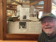 Greg with E.R. Hewitts exhibit