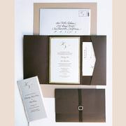 Gold Elegence Letterpress Wedding Invitation Design