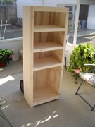 bath room cabinet in rough stage
