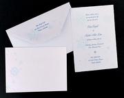 Kristall Letterpress Wedding Invitation Design