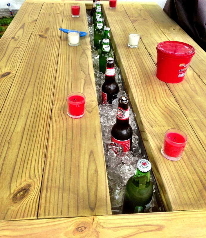 Picnic Cooler Table