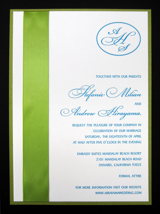 Millian Letterpress Wedding Invitation Design - Invitation