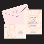 Mullen Letterpress Wedding Invitation Design